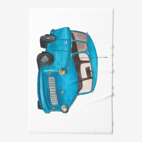 Полотенце «Голубой автомобиль»