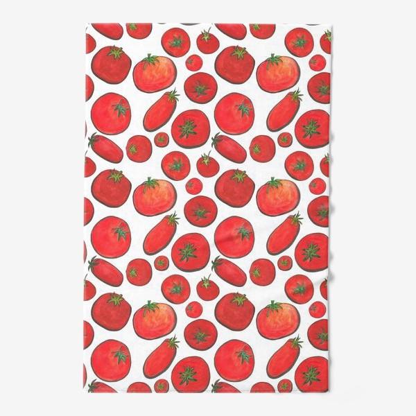 Полотенце «Паттерн урожай томатов»