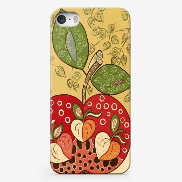 Чехол iPhone «Декоративное красное яблоко»