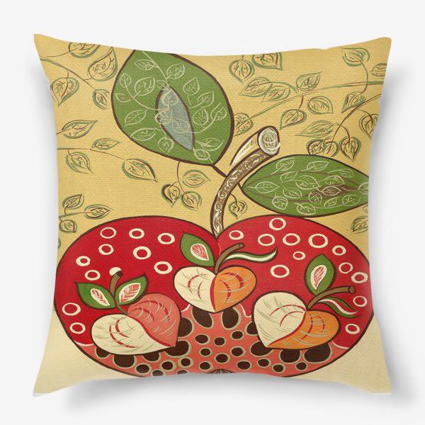 Подушка «Декоративное красное яблоко»
