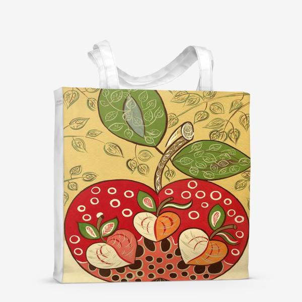 Сумка-шоппер «Декоративное красное яблоко»