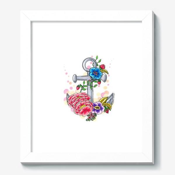 Картина «Якорь в цветах»