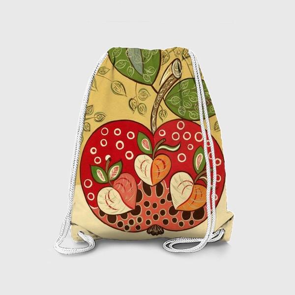 Рюкзак «Декоративное красное яблоко»