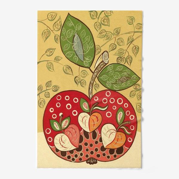 Полотенце «Декоративное красное яблоко»
