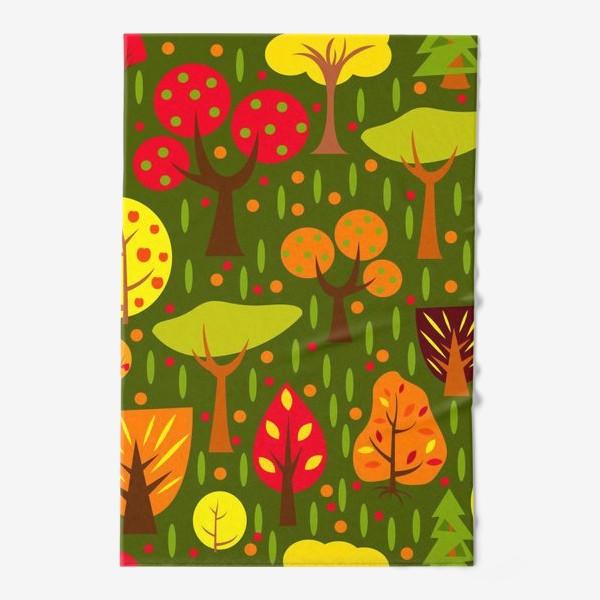 Полотенце «Осенний мультяшный лес»