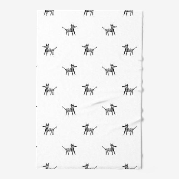 Полотенце «Паттерн с собаками»