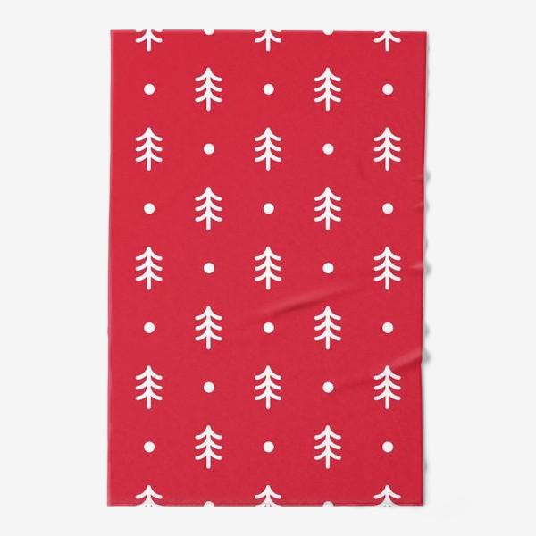 Полотенце «Новогодний паттерн с минималистичными ёлочками»