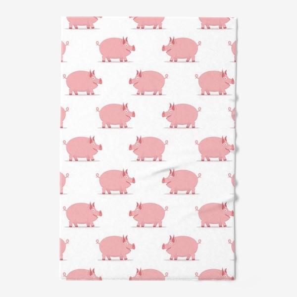 Полотенце «Паттерн со свинками»