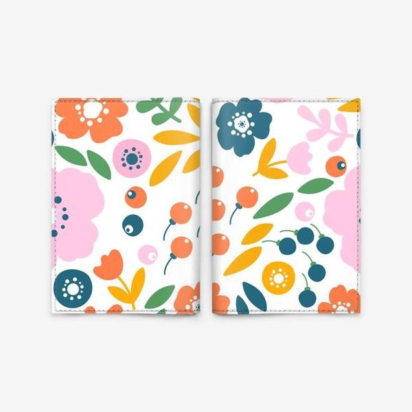 Обложка для паспорта «Цветочный узор»
