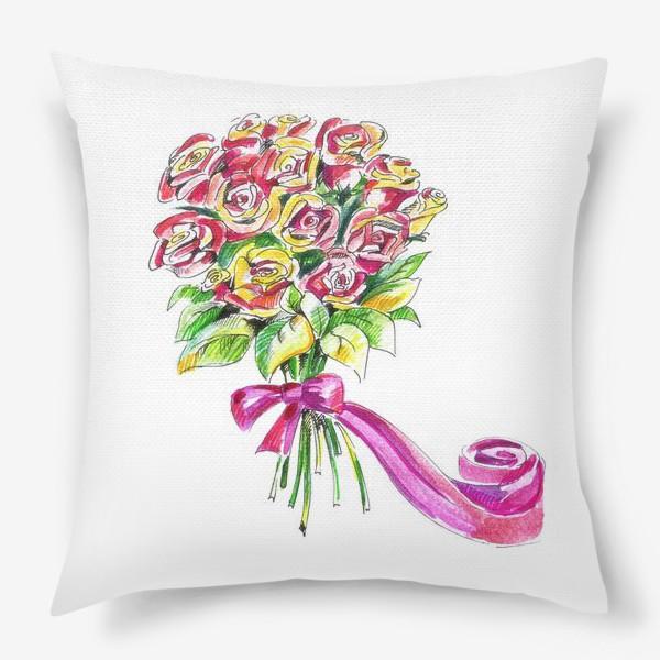 Подушка «Букет роз»