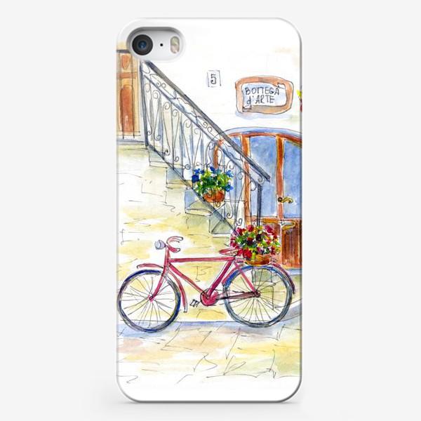 Чехол iPhone «Цветочный велосипед»