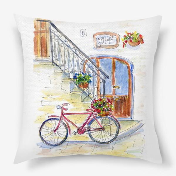 Подушка «Цветочный велосипед»