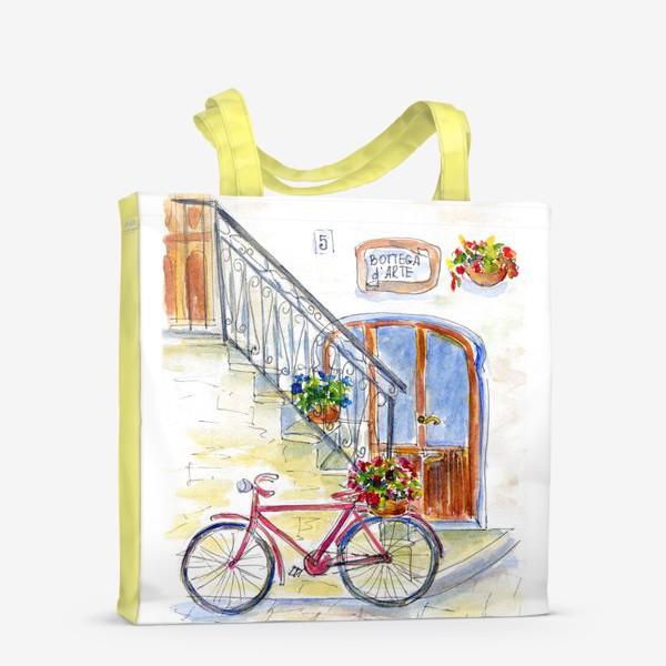 Сумка-шоппер «Цветочный велосипед»