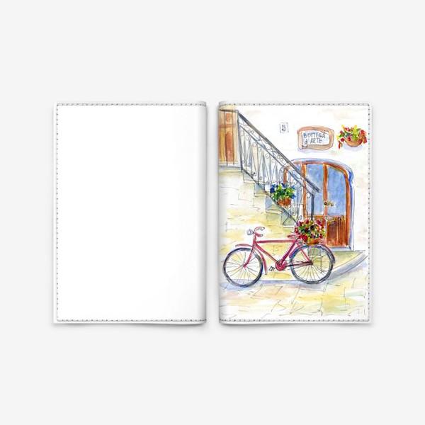 Обложка для паспорта «Цветочный велосипед»