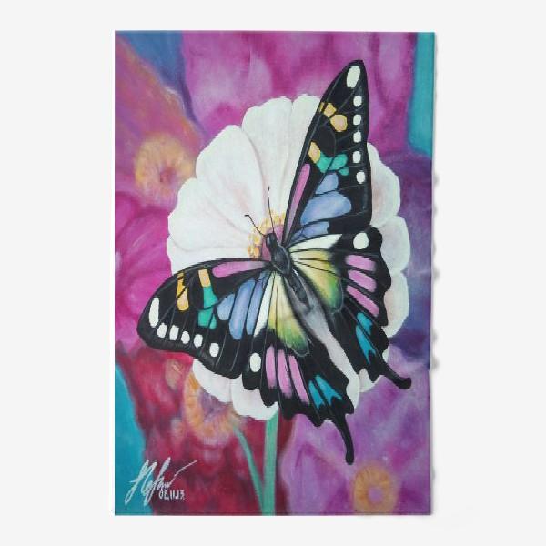 Полотенце «Бабочка на цветке.»