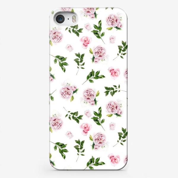Чехол iPhone «Орнамент с розой Остин»