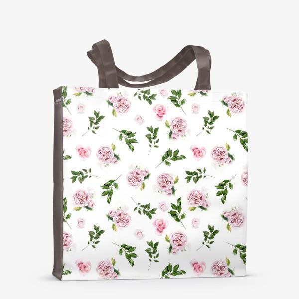 Сумка-шоппер «Орнамент с розой Остин»
