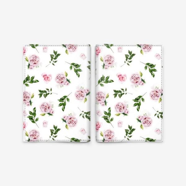 Обложка для паспорта «Орнамент с розой Остин»