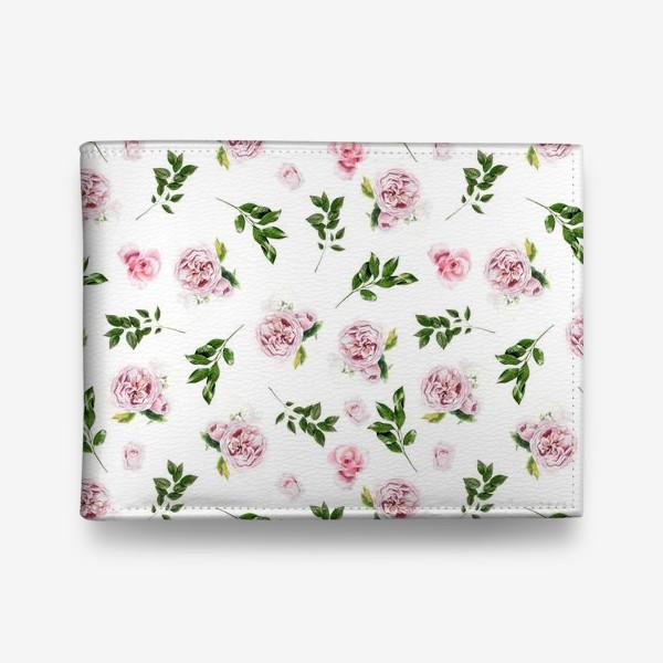 Кошелек «Орнамент с розой Остин»