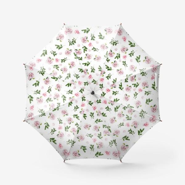 Зонт «Орнамент с розой Остин»