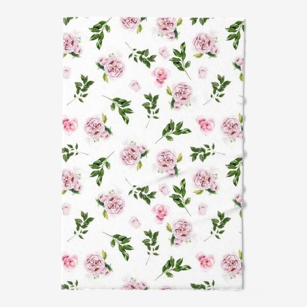 Полотенце «Орнамент с розой Остин»