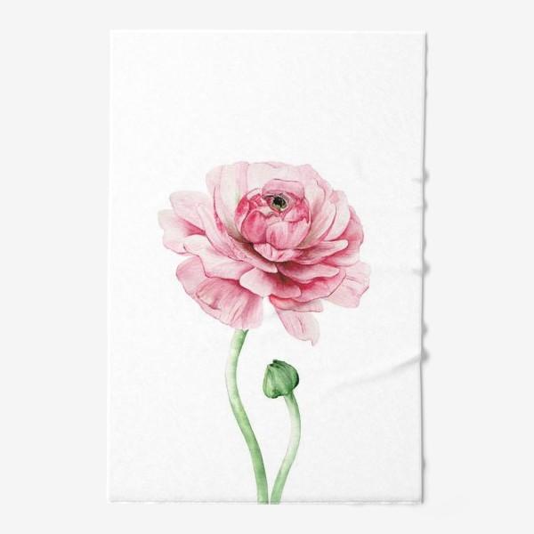 Полотенце «Розовый ранункулюс »