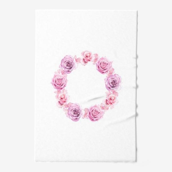 Полотенце «Розовый венок»