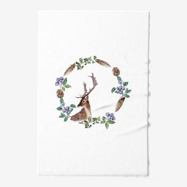 Полотенце «Венок с оленем»