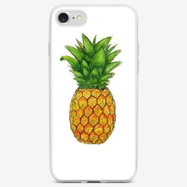 Чехол iPhone «Король тропических плодов - ананас.»