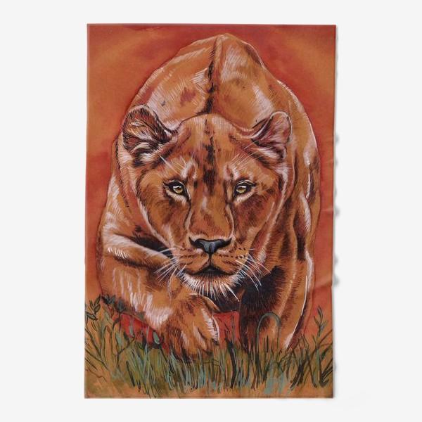 Полотенце «львиная охота »
