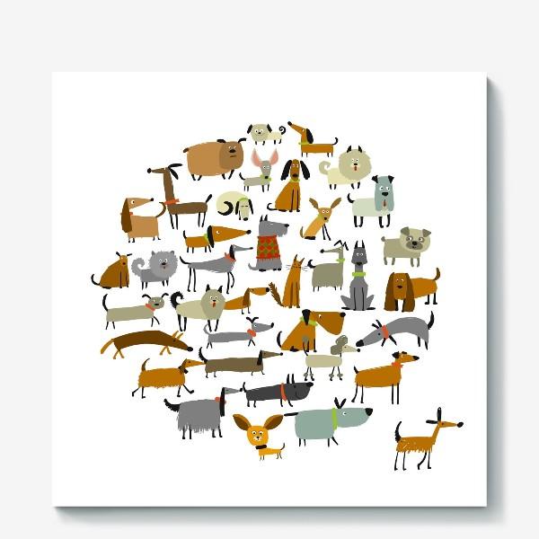Холст «Любимые животные»