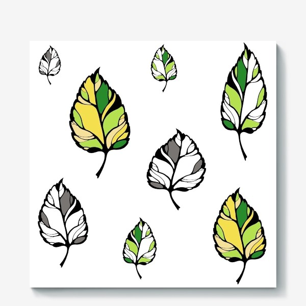 Холст «листья»