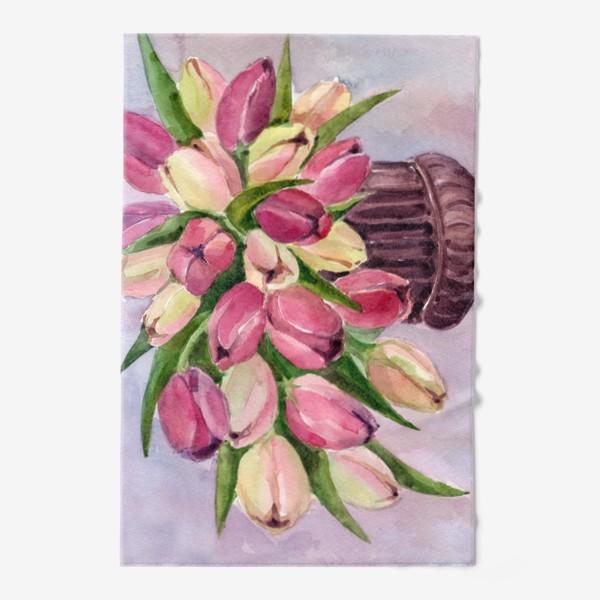 Полотенце «Букет тюльпанов»