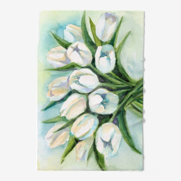 Полотенце «Белые тюльпаны»