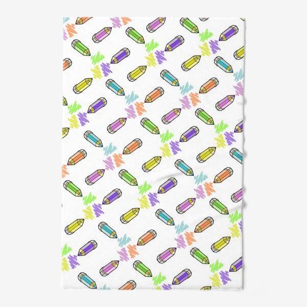 Полотенце «Цветные карандаши (белый фон)»