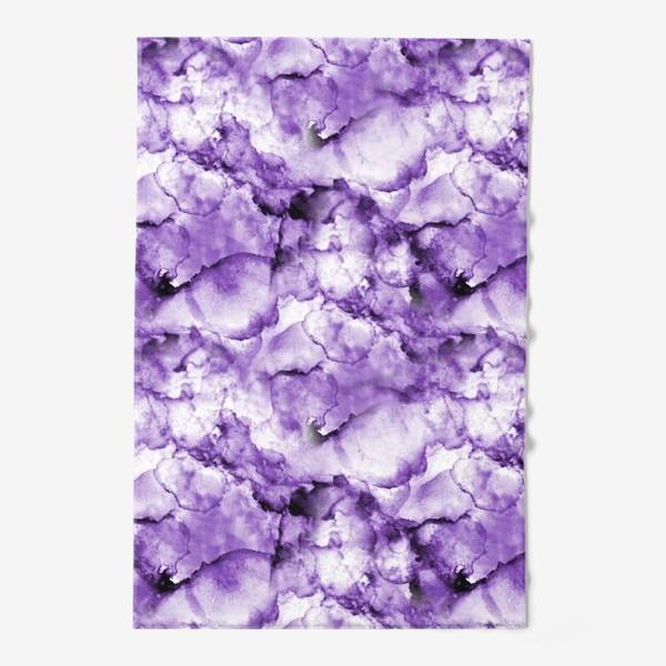 Полотенце «Фиолетовое безумство (спиртовые чернила)»