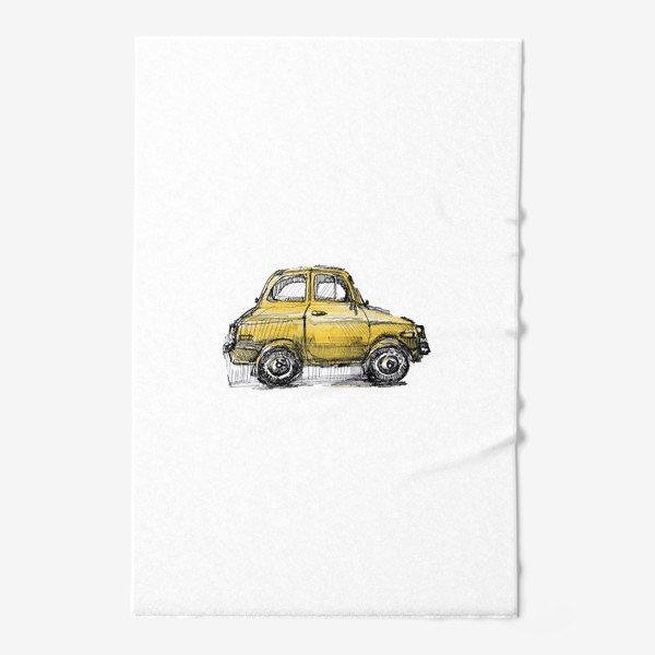 Полотенце «желтая машина»
