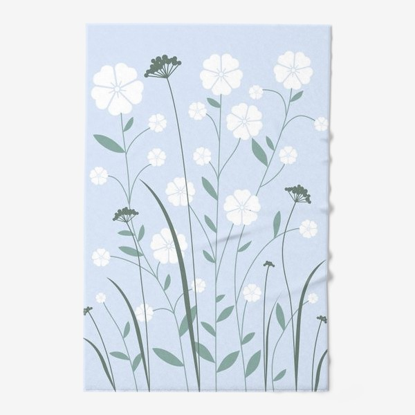 Полотенце «Белые цветы»