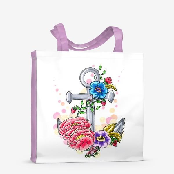 Сумка-шоппер «Якорь в цветах»