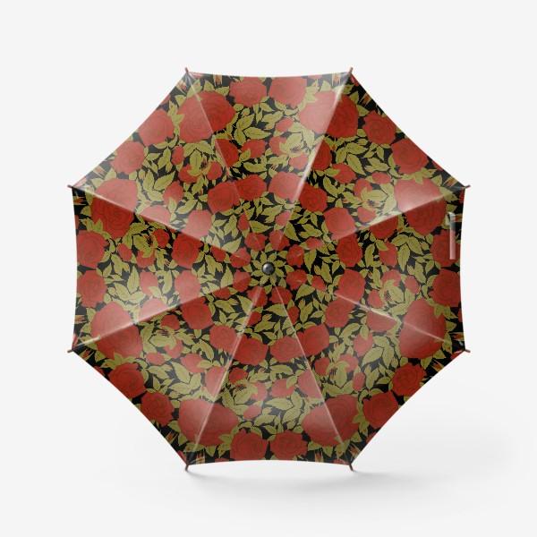 Зонт «красные розы»