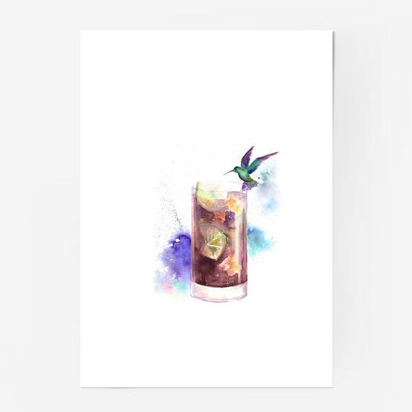 Постер «Коктейль Куба либре»