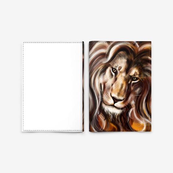 Обложка для паспорта «Лев»
