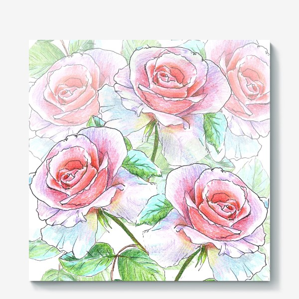 Холст «букет роз»