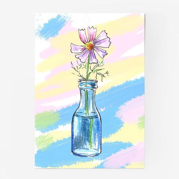 Постер «Космея в вазе»