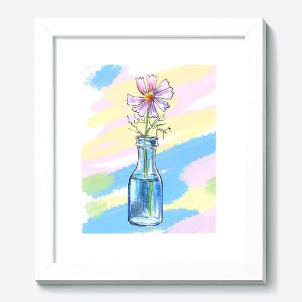Картина «Космея в вазе»