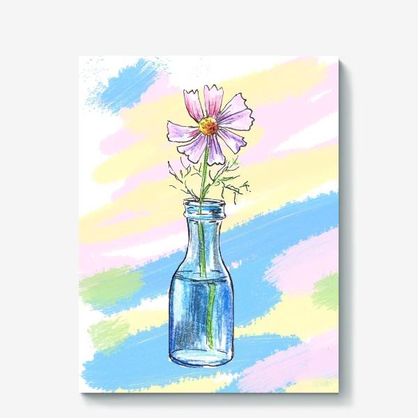 Холст «Космея в вазе»