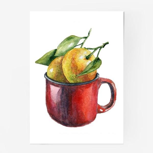 Постер «Мандаринки акварель»