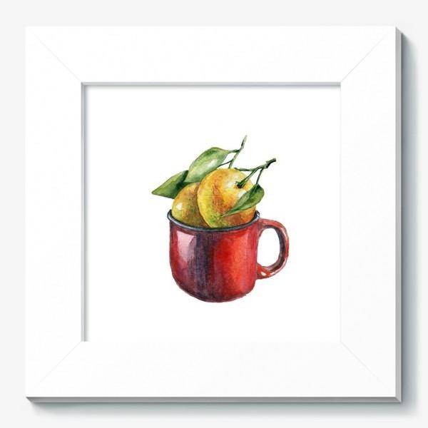 Картина «Мандаринки акварель»