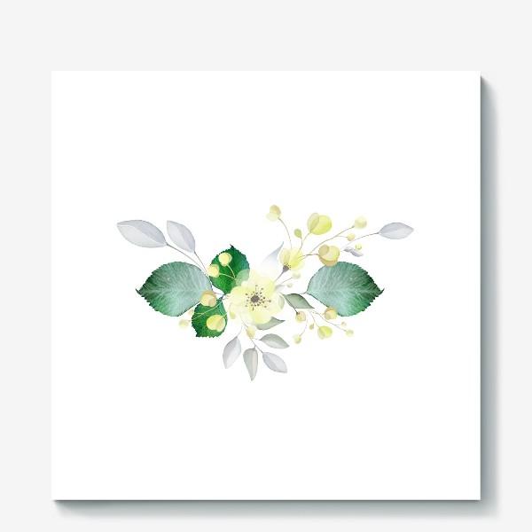 Холст «Нежные цветы»
