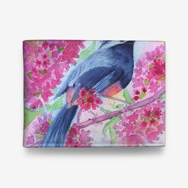 Кошелек «Птица на цветущей ветке»